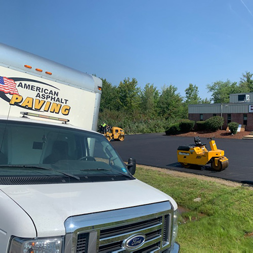 Parking Lot Paving Project near Manchester NH